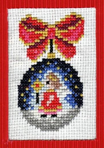 haft krzyżykowy kwiatuszek rękodzieło
